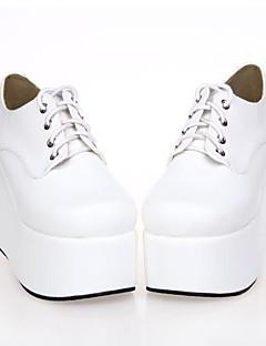 белый Кожа PU 10 см платформа панк Лолита обувь