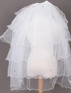 laciness flerlags rhinestone bryllup slør