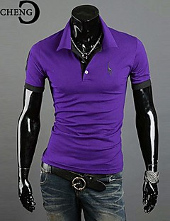 Men's Short Sleeve Polo , Cotton Casual/Plus Sizes