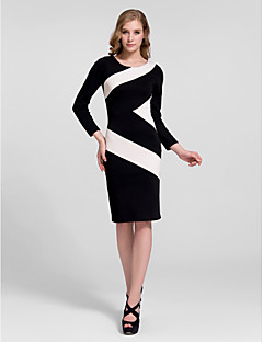 Cocktail Party Dress - Multi-color Plus Sizes Sheath/Column Jewel Short/Mini Cotton