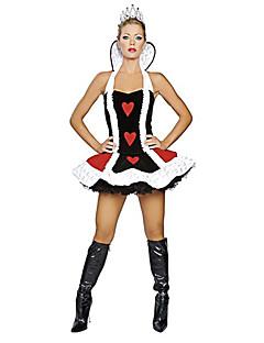 rainha dos corações preto do dia das bruxas partido costumefor carnaval terylene das mulheres