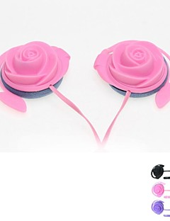 rosas deportes auricular del en-oído con el micrófono del mic para el iphone 6 más (color clasificado)