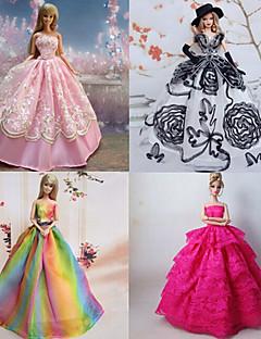 Prinzess-Linie Kleider Für Barbie-Puppe Lila / Rosa Kleider Für Mädchen Puppe Spielzeug