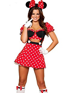 Cosplay Costumes / Party Costume Cute Princess Mouse Polka Dot Red Terylene Girl's Cosplay Costume Halloween Costume