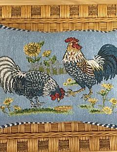 """18 """"* 12"""" polyester de coton noël coq jacquard rectangulaire taies d'oreiller décoratif"""