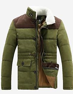 rxhx男性のスタンドカラー長袖サーマルオーバーコート