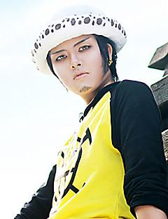 Inspired by One Piece Trafalgar Law Anime Cosplay Costumes Cosplay Hoodies Print Black / Yellow Long Sleeve Top