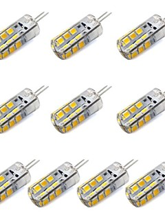 G4 2.5 W 24 SMD 2835 260 LM Warm White / Cool White T Decorative Corn Bulbs DC 12 V