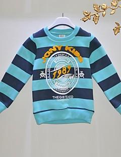 T-shirt-Chłopca-Jesień-Prążki-Bawełna organiczna