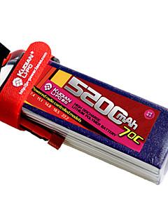 kudian rc batteri 70C 5200mAh t plug 2s