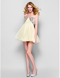 TS Couture Cocktail Party Prom Dress - Sparkle & Shine A-line Strapless Short / Mini Chiffon with Sequins