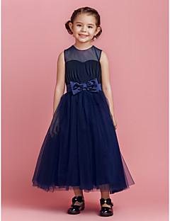 Vestido de niña de las flores - Corte A/Corte Princesa Hasta el Tobillo - Tul Sin Mangas