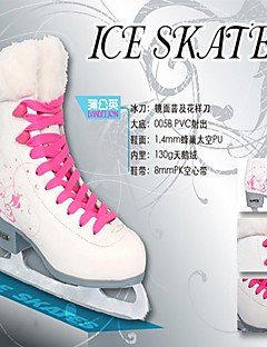 Skating Exceise Shoes Pu Leather Snow White -25C Dandelion Plush Shoes Tube