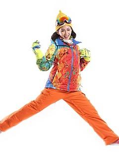 Sport Skiklær Jakke til damer / Vinterjakke / Ski/Snowboardjakker / Klessett/Dresser Dame Vinterplagg 100% Polyester VinterklærVanntett /