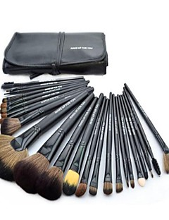 Hot Sale Professional Makeup Brush Set with 24Pcs Black Brushes and Black Bag