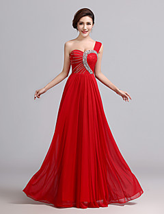 Formal Evening Dress - Ruby A-line One Shoulder Floor-length Chiffon
