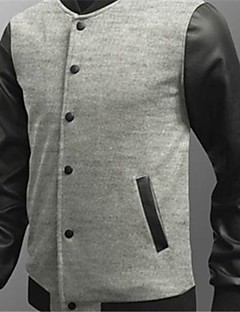 Men's Long Sleeve Casual Jacket,Cotton Solid Black / Blue / Red / Gray