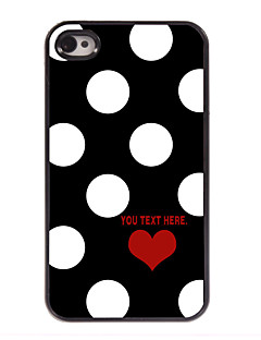 Personalized Case Lovely Dots Pattern Metal Case for iPhone 4/4S
