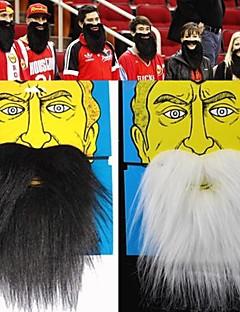 1pcs James Harden&santa claus schwarz weiß falschen Bart Halloween-Party Schabernack Gadget (sortierte Farbe, 20x18cm)