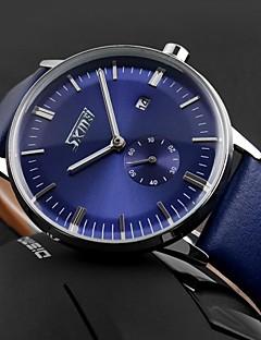 SKMEI Pánské Náramkové hodinky Křemenný Japonské Quartz Kalendář Voděodolné Kůže Kapela Černá Modrá Hnědá Bílá Černá Hnědá Modrá