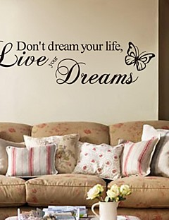 Wandaufkleber Wandtattoo, lebe deine Träume Englisch Wörter&zitiert PVC Wandaufkleber