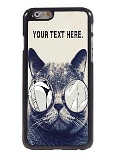 """caixa personalizada gato lascivo caso design de metal para iphone 6 (4.7 """")"""