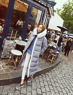 Women's Thick Fur Collar Long Section Down Coat