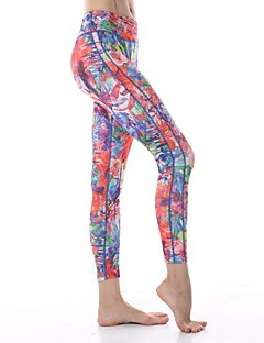 Yokaland Three-Dimensional Cut Slim Fit Yoga Capri With Flower Print