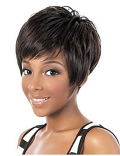 6Inch SHort Brazilian Hair Natural Straight Machine Made Wig for women