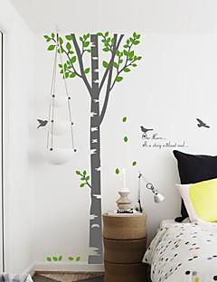 wall stickers Vægoverføringsbilleder, moderne frisk træ PVC Wall Stickers