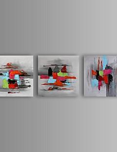 pintura al óleo moderna abstracta pintada a mano con juego de marco estirado de 3