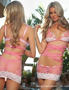 hot girl Sahne und rosa Minirock sexy Nachtwäsche