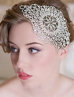 Capacete Bandanas Casamento/Ocasião Especial Strass Mulheres/Menina das Flores Casamento/Ocasião Especial
