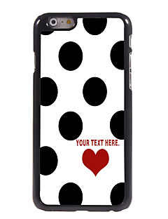 "Personalized Case Elegant Dots Design Metal Case for iPhone 6 (4.7"")"