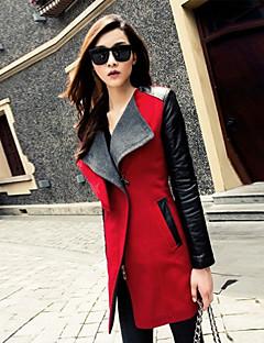 моды случайные шею лацкане подходит пальто baibian женщин