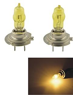 Carking™ HOD H7 100W 2800K Ultra Bright Car Yellow Light Bulbs (DC 12V/Pair)
