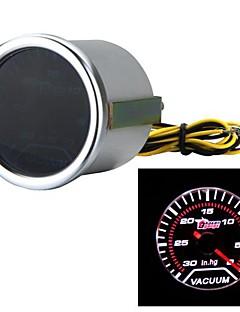 "Car Motor Universal Smoke Len 2"" 52mm 30-0 IN/HG Indicator Vacuum Gauge White LED Light"