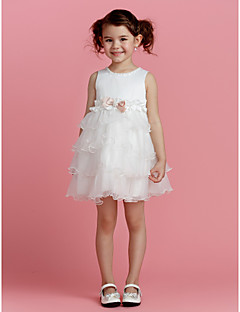 A-Lijn Korte broek / Mini Bloemenmeisje jurk - Polyester