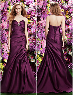 TS Couture Formal Evening Dress - Grape Trumpet/Mermaid Sweetheart Sweep/Brush Train Satin