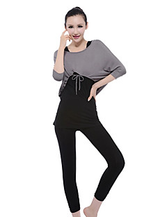 Mulheres Ioga Ternos Manga Comprida Cinzento / Preto Ioga M / L / XL