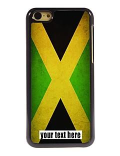 bandeira caixa personalizada de jamaica caso design de metal para iphone 5c