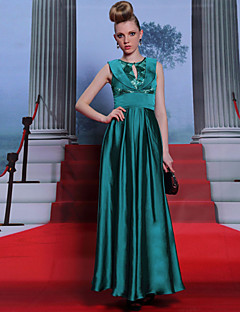 Sheath/Column Jewel Floor-length Evening Dress