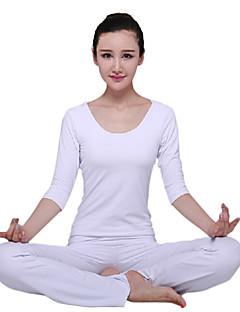 sexy backless witte half mouw yoga top en broek