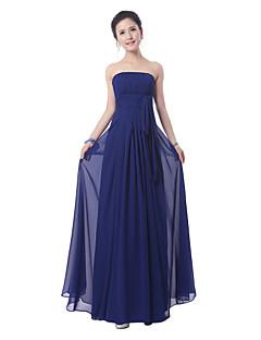 Na zem Bez ramínek Šaty pro družičky - Elegantní Bez rukávů Šifón