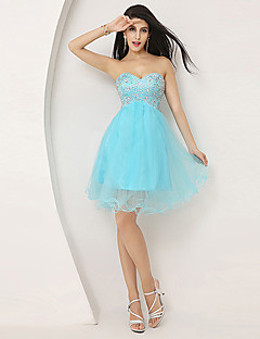 Cocktail Party Dress - Pool Plus Sizes / Petite A-line Sweetheart Knee-length