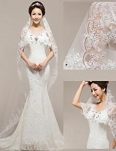 The New Bride Veil Korean Lace Flexible Pipe 3 Meters Long Mop The Floor Wedding Veil Sequins Yarn 642