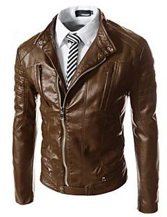 Ležérní Dlouhé rukávy - MEN - Coats & Jackets ( PU kůže )