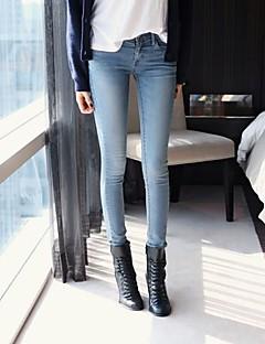 vrouwen casual micro elastisch medium jeans broek (denim)