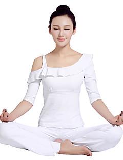 ombro único projeto top e calça yoga das mulheres