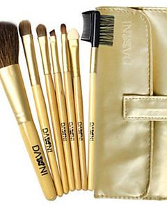 7 Makeup Brushes Set Goat Hair Face / Lip / Eye DANNI